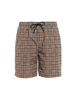 Burberry: Swim shorts & swimming trunks - Guildes beige Check swim shorts