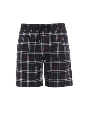 Burberry: Swim shorts & swimming trunks - Guildes navy Check swim shorts