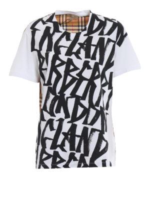 Burberry: t-shirts - Cimarron cotton T-shirt