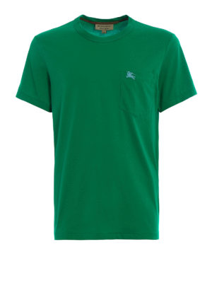 Burberry: t-shirts - Henton green jersey T-shirt