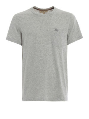 Burberry: t-shirts - Henton light grey jersey T-shirt
