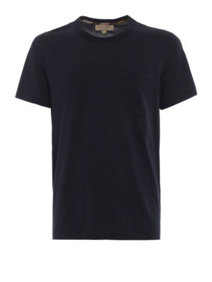 Burberry: t-shirts - Henton navy jersey T-shirt