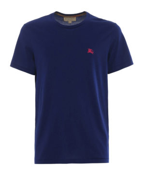 Burberry: t-shirts - Joeforth bright navy jersey T-shirt
