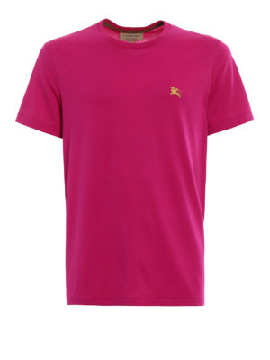 Burberry: t-shirts - Joeforth bright pink jersey T-shirt
