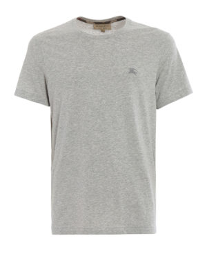 Burberry: t-shirts - Joeforth grey jersey T-shirt