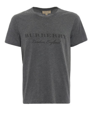 Burberry: t-shirts - Martford logo lettering T-shirt