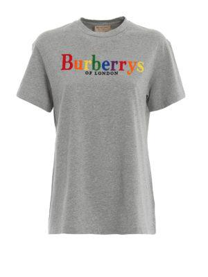 BURBERRY: t-shirt - T-shirt Clumber con logo Burberrys multicolor
