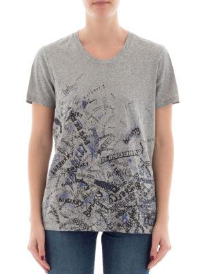 Burberry: t-shirts online - Doodle print cotton T-shirt