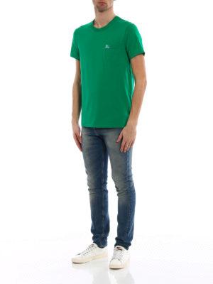 Burberry: t-shirts online - Henton green jersey T-shirt