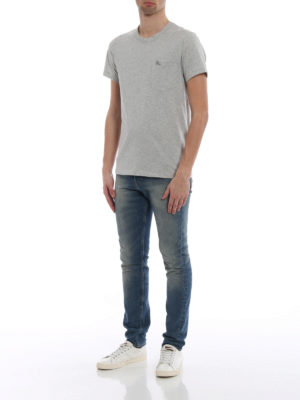 Burberry: t-shirts online - Henton light grey jersey T-shirt