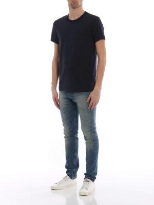 Burberry: t-shirts online - Henton navy jersey T-shirt
