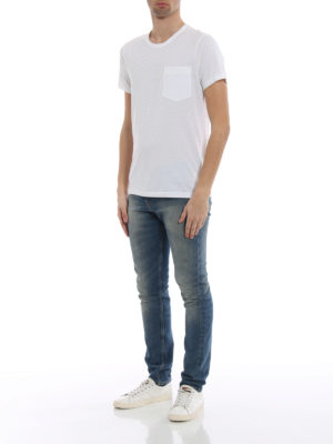Burberry: t-shirts online - Henton white jersey T-shirt