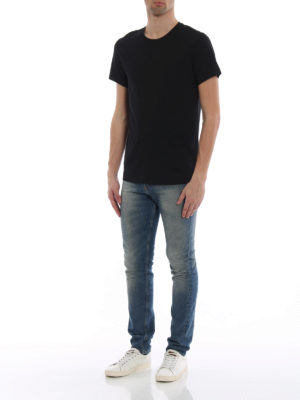 Burberry: t-shirts online - Joeforth black jersey T-shirt