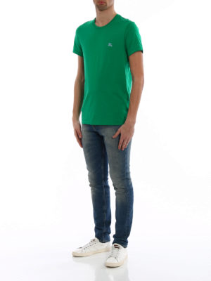 Burberry: t-shirts online - Joeforth bright green jersey Tee