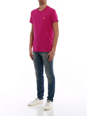 Burberry: t-shirts online - Joeforth bright pink jersey T-shirt