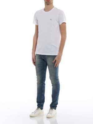 Burberry: t-shirts online - Joeforth white jersey T-shirt