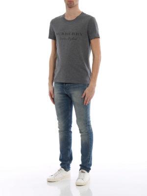 Burberry: t-shirts online - Martford logo lettering T-shirt
