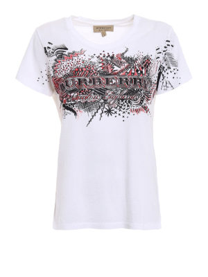 Burberry: t-shirts - Printed sketches white Tee