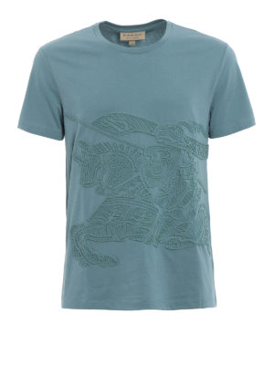 Burberry: t-shirts - Rio embroidered T-shirt