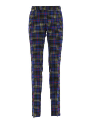 BURBERRY: Pantaloni sartoriali - Pantaloni Soho in lana tartan