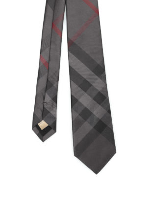 Burberry: ties & bow ties - Manston Check silk tie
