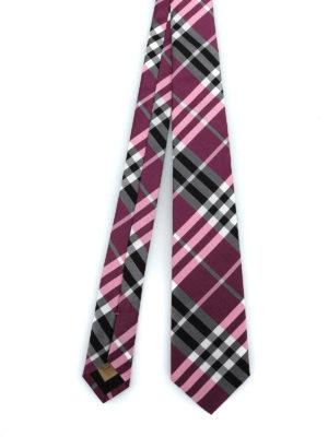 BURBERRY: cravatte e papillion - Cravatta Manston in seta Vintage check rosa
