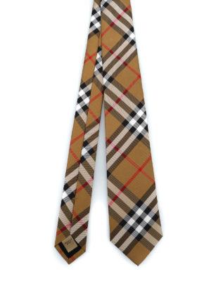 BURBERRY: cravatte e papillion - Cravatta Manston in seta Vintage check