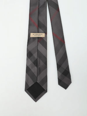 Burberry: ties & bow ties online - Manston Check silk tie