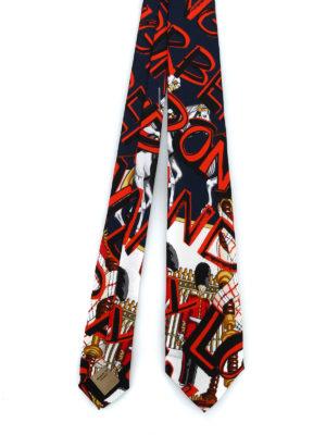 BURBERRY: cravatte e papillion - Cravatta Stanfield con motivo London graffiti