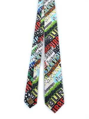 BURBERRY: cravatte e papillion - Cravatta Stanfield con logo multicolor
