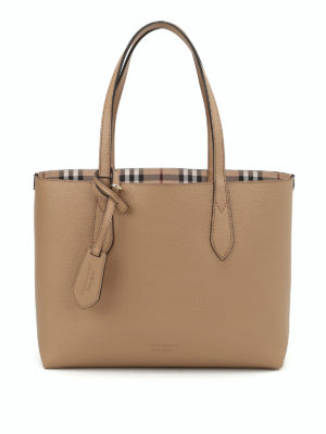 Burberry: totes bags - Haymarket check reversible tote