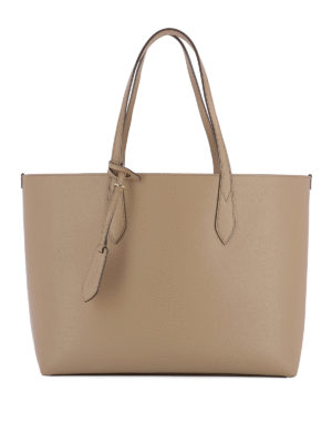 Burberry: totes bags - Leather medium reversible tote