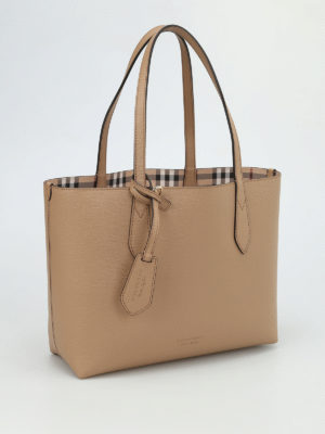 Burberry: totes bags online - Haymarket check reversible tote