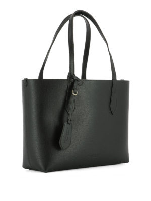 Burberry: totes bags online - Leather small reversible tote