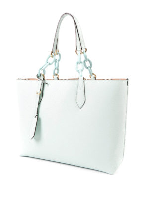 Burberry: totes bags online - Medium reversible leather tote