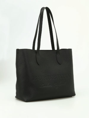 Burberry: totes bags online - Remington black leather large tote
