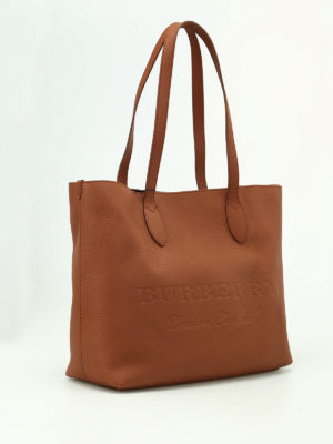 Burberry: totes bags online - Remington brown leather large tote
