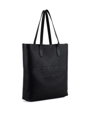 Burberry: totes bags online - Remington N/S embossed leather tote