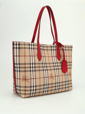 Burberry: totes bags online - Reverse double face leather tote