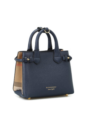 Burberry: totes bags online - The Baby Banner blue mini handbag