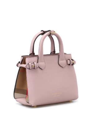 Burberry: totes bags online - The Baby Banner pink mini handbag