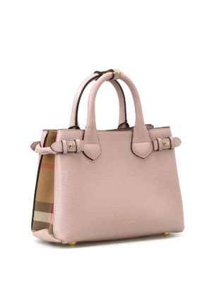 Burberry: totes bags online - The Baby Banner pink small handbag