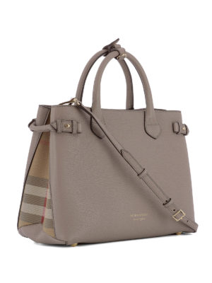 Burberry: totes bags online - The Banner leather medium tote