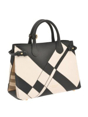Burberry: totes bags online - The Banner two-tone medium bag