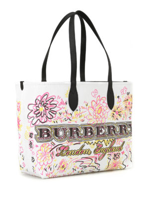 Burberry: totes bags online - The Doodle reversible jute tote