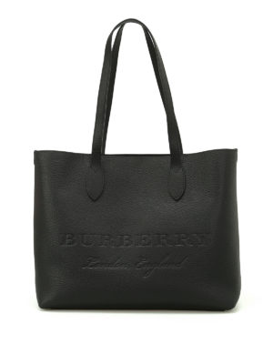 Burberry: totes bags - Remington black leather large tote