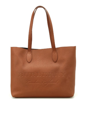 Burberry: totes bags - Remington brown leather large tote
