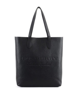 Burberry: totes bags - Remington N/S embossed leather tote