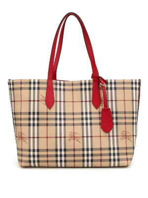Burberry: totes bags - Reverse double face leather tote