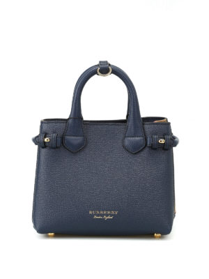 Burberry: totes bags - The Baby Banner blue mini handbag
